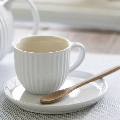 IB LAURSEN Tasse mit Untertasse Mynte Pure White