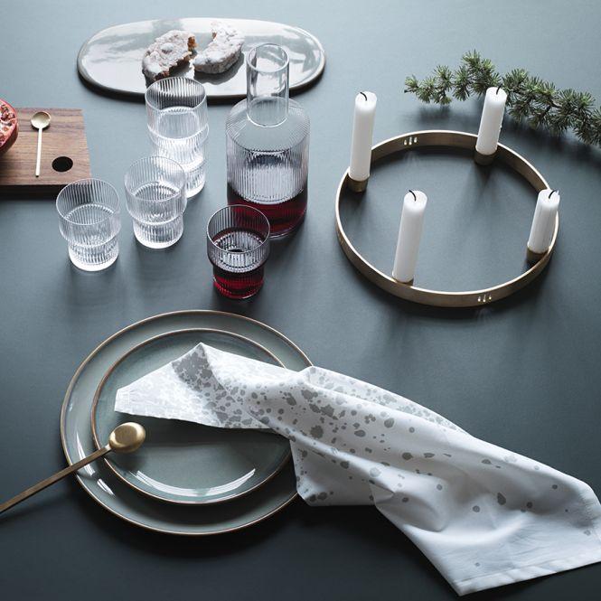 ferm living kerzenhalter advent circle klein online kaufen emil paula. Black Bedroom Furniture Sets. Home Design Ideas
