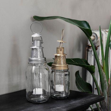 house doctor laterne fhia antikes messing 22 cm online. Black Bedroom Furniture Sets. Home Design Ideas