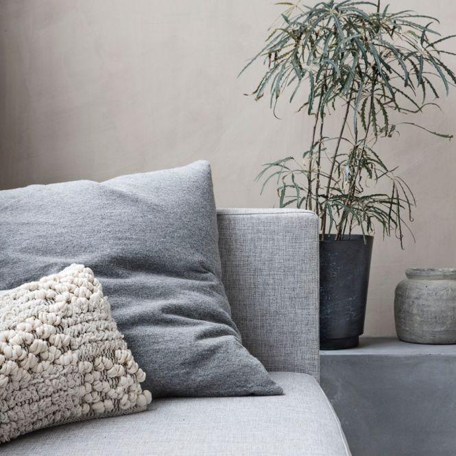 house doctor kissenbezug grau 60x60 cm online kaufen emil paula. Black Bedroom Furniture Sets. Home Design Ideas