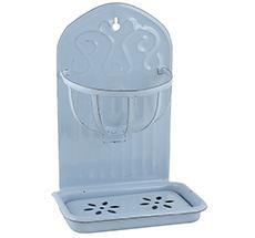 IB LAURSEN Seifenschale mit Korb Emaille Blau