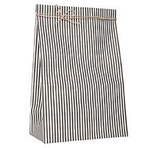 IB LAURSEN Geschenktüte Gestreift Schwarz/Weiß 10er Set