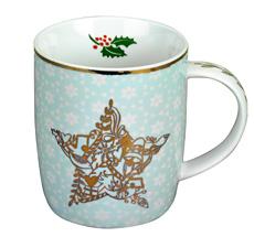 Spiegelburg Tasse Weihnachtszauber Türkis