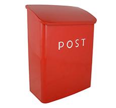 IB LAURSEN Briefkasten Post Rot