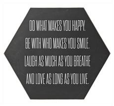 Bloomingville Schild Do what makes you happy … Schwarz