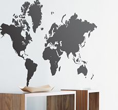 ferm LIVING World Map Wandsticker