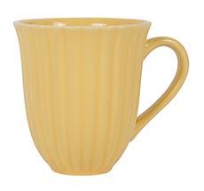 IB LAURSEN Tasse mit Rillen Mynte Lemon Zest