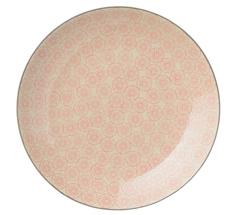 Bloomingville Porzellan Speiseteller Cécile Rose/Grey 20cm Rosa Pusteblume