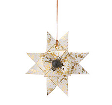ferm LIVING Papierstern Gold Splash