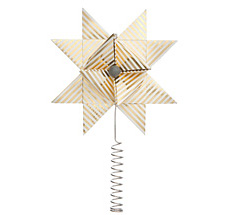 ferm LIVING Christbaumspitze Stern Paper Top Star Gold Stripe