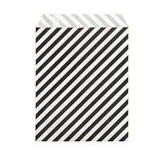 Ferm Living Pochettes cadeaux Stripe Black S - Set de 12