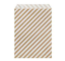 ferm LIVING Geschenktüten Stripe Gold M - 12er-Set