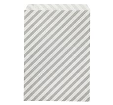 Ferm Living Pochettes cadeaux Stripe Grey L - Set de 12