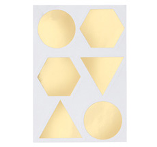 ferm LIVING Verschluss-Sticker Gold - 12er-Set
