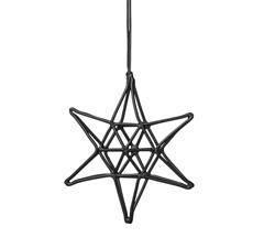 Bloomingville Dekoanhänger Double Schwarz Star
