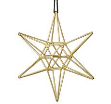Bloomingville Dekoanhänger Double Gold Star Groß