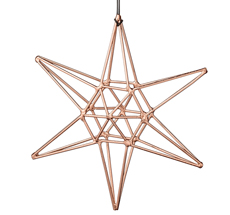 Bloomingville Dekoanhänger Double Copper Star Groß