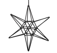 Bloomingville Dekoanhänger Double Schwarz Star Groß