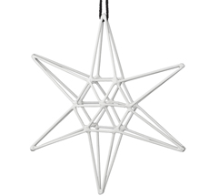 Bloomingville Dekoanhänger Double White Star Groß