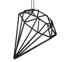 Bloomingville Dekoanhänger Diamond Schwarz