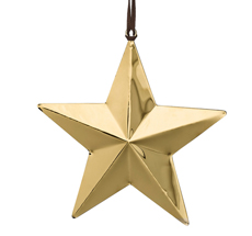 Bloomingville Dekoanhänger Star Gold