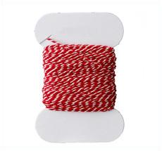 Bloomingville Kordel Garn Rot/Weiß