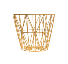 Ferm Living Wire Basket - Yellow - Small