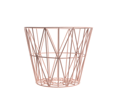 Ferm Living Wire Basket - Rose - Small