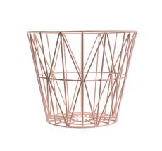Ferm Living Wire Basket - Rose - Medium