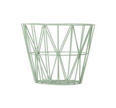 Ferm Living Wire Basket - Mint - Small
