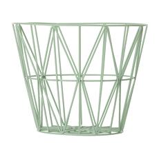 Ferm Living Wire Basket - Mint - Large