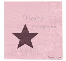 Bloomingville Papierservietten Merry Christmas Nude