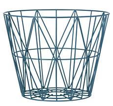 Ferm Living Wire Basket - Petrol - Large