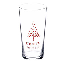 "Bloomingville Glas ""Merry Christmas"" Red"