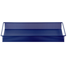 ferm LIVING Metal Tray - Blue - Small