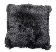Natures Collection New Zealand Sheepskin Cushion Black 35 x 35