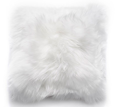 Natures Collection New Zealand Sheepskin Cushion Ivory 50 x 50