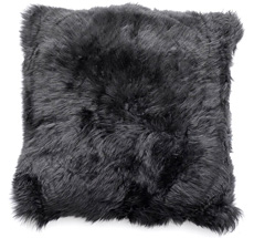 Natures Collection New Zealand Sheepskin Cushion Black 50 x 50