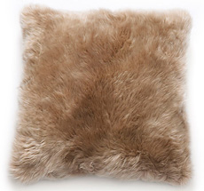 Natures Collection New Zealand Sheepskin Cushion Taupe 50 x 50