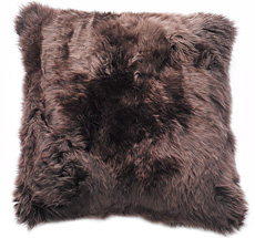 Natures Collection New Zealand Sheepskin Cushion Chocolate 50 x 50