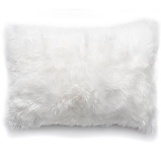 Natures Collection New Zealand Sheepskin Cushion Ivory 40 x 60