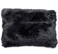 Natures Collection New Zealand Sheepskin Cushion Black 40 x 60