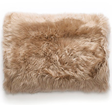 Natures Collection New Zealand Sheepskin Cushion Taupe 40 x 60