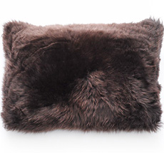 Natures Collection New Zealand Sheepskin Cushion Chocolate 40 x 60