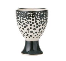 Bahne & Co. Eierbecher Dots Black/White