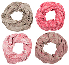 IB LAURSEN Halstuch Pink/Rot/Beige