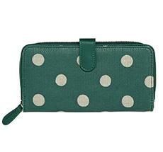 Cath Kidston Geldbörse Button Spot Forest Green