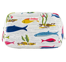 Cath Kidston Kosmetiktasche Mini River Fish White
