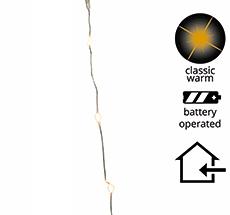 Kaemingk LED Lichterkette Silber Batterie 1m