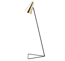 Bloomingville Stehlampe Schwarz/Messing